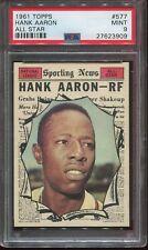 1961 Topps #577 Hank Aaron All Star psa 9 Mint  HOF