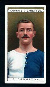 OGDENS FAMOUS FOOTBALLERS 1908 ROBERT CROMPTON - BLACKBURN ROVERS