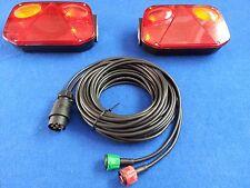 2 x RADEX 2800 Rear Car Trailer Lights with 8m Quick Fit RADEX Wiring harness