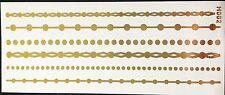 Tattoo Einmal Flash Klebe Temporary Gold 6teile Armband Hals Kette Fuß Neu H2