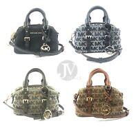 Michael Kors Ginger Extra Small XS Signature Duffle Crossbody Satchel Handbag