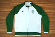 NIKE MEN'S AUTHENTIC PORTUGAL FOOTBALL CORE TRAINER JACKET WHITE/GREEN LARGE
