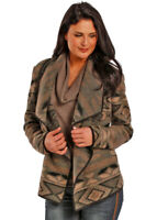 POWDER RIVER OUTFITTER by Panhandle Aztec Wool Wrap Jacket NWT