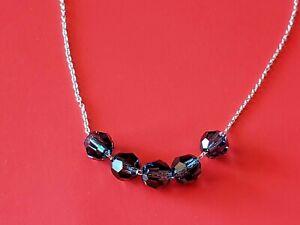Touchstone Crystal by Swarovski Blue Beads Necklace NEW