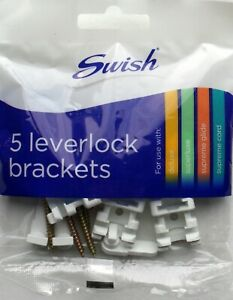 Swish Curtain Track Leverlock Brackets Superluxe Deluxe Duo Supreme Glide pack 5