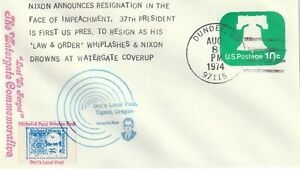 1974 USA cover Private Post - Doc`s Lokal Post Tigard,Oregon Nixon Resignation