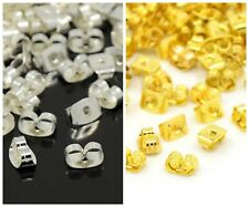 100pcs 50 Pairs Gold or silver plated butterfly earring backs scrolls stoppers
