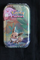 Pokemon Kanto Friends Mini Tin - 2x Booster - Eevee Chansey - Factory Sealed