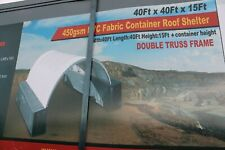 15 Oz Pvc Replacement Cover For 40x40 Conex Shipping Container Canopy Shelter