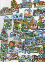 28 Stück WM Länder Magnete von FRUCHTZWERGE - ( Kompletter Satz )