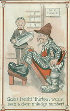 Rube at Shoe Store Giant Size 13 Feet Unlucky Number Snoe Salesman PC