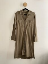 Soft Surroundings Womens Button Down Maxi Shirt Dress Size Small New