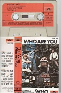 THE WHO cassette K7 tape WHO ARE YOU france french 3184 109 paper label