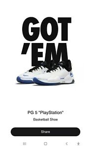 Nike PG 5 x PlayStation White Sz 12 Confirmed Ship ASAP PS5 Limited