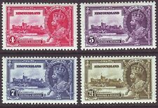 Newfoundland 1935 SC 226-229 MH Set Silver Jubilee