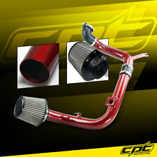 00-04 Ford Focus 2.0L 4cyl DOHC Red Cold Air Intake + Stainless Steel Filter
