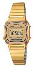 Orologio Da Polso CASIO LA670WGA-9DF Digitale Donna Acciaio Vintage Dorato lac