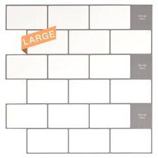Peel and Stick Backsplash White Subway Tiles Kitchen Bathroom 12x12, 10-pack