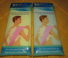 Lot Of 2 Assorted Venus Nylon Korea Body Exfoliator Skin Bath Wash Cloth Towel