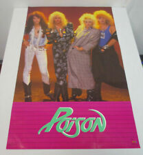 POISON Poster by Funky Enterprises Rock & Roll 80's Vintage 22X34 BAND - New