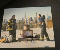 ADAM SANDLER SIGNED 8X10 PHOTO CHUCK AND LARRY KEVIN JAMES W/COA+PROOF RARE WOW