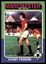 Topps Foootball 1975 Red/Grey (B1) Stuart Pearson Manchester United No. 134