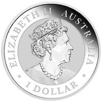 1 oz .9999 Pure Solid Silver: 2019 Australian Kookaburra Silver $1 Art-Round