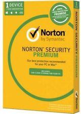 NORTON SECURITY  PREMIUM 2020 - 1 Year - 1 PC Antivirus - Digital Link - Win/Mac