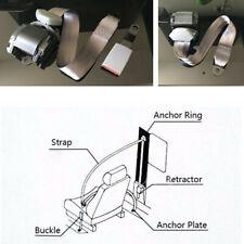 3 Point Seat Belt Lap & Diagonal Belt Extra long adjustable nylon straps Grey