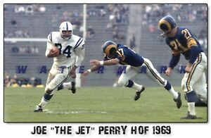 """JOE """"THE JET"""" PERRY BALTIMORE COLTS HOF 1969 FROM NEGATIVE PRINT (4 sizes)"""
