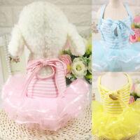Pet Small Dog Puppy Princess Cat Vest Shirt Dress Tutu Apparel Costume Clothes