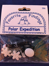 FAVORITE FINDINGS button pack POLAR EXPEDITION penguin snowflake bear soda NEW