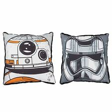 Star Wars Force Awakens Canvas Cushion Bb-8 Stormtrooper New Double-Sided