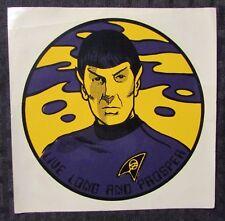 """Vintage Ttc Spock Live Long and Prosper 6x6"""" Decal Fn 6.0"""