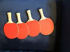 Four (4) STIGA Ping Pong Table Tennis Paddles