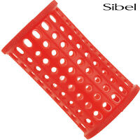 Sibel 10 x 40mm RED Hair Setting Curl Rollers & Roller Pins Skelox Hair Curler
