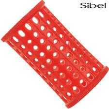 Sibel 10 x 40mm RED Hair Setting Curl Rollers & Roller Pins Skelox Hair Curler