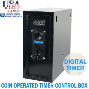 Safty Use Coin Operated Timer Control Box Electronic Device Coin Selector Useful
