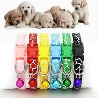 Patrón Gato Hebilla Correa Perro Tela De Nylon Collar Para Mascotas Collar
