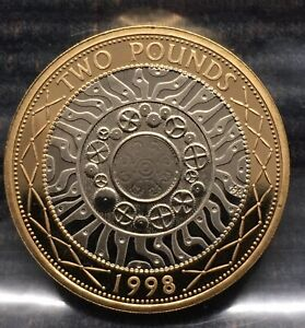 1998 Technology PROOF £2 coin Royal Mint 2 pound