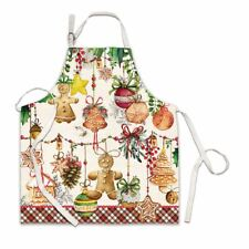 Michel Design Works Chef's Cotton Apron Holiday Treats Gingerbread Cookies