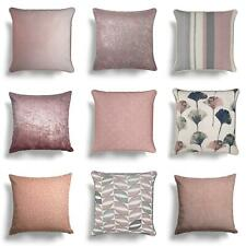 """Blush Cushion Covers Pink Luxury Sofa Throw Filled Cushions Cover 17""""/18"""""""