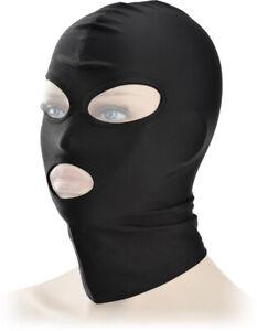 Mask Spandex BDSM Bondage Maske Kostüm Kopfmaske schwarz