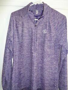 Under Armour Large Ladies' 1/4 Zip Long Sleeve Shirt - Hiwan GC - Superb!