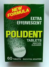 VINTAGE NEW OLD STOCK! 60 Pack of Polident Tablets from the 70s! FREE SHIPPING!