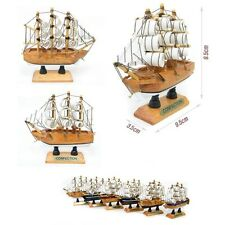10cm Wood Mini Miniature Model Interior Decoration Sailing Boat Ship Decor Props