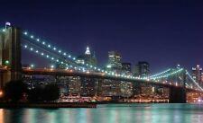 NEW YORK BRIDGE PONTE QUADRO STAMPA SU TELA CANVAS +TELAIO VERNICE PEN. 60X100