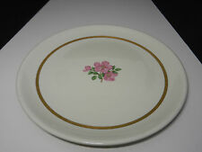 "Franciscan Cherokee Rose Gold Band Chop Plate 13 3/8"" D ca 1942-1952"
