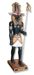 Khnum 3 ft Egyptian Statue Fine Home Art decor Gold Leaf finish Statue