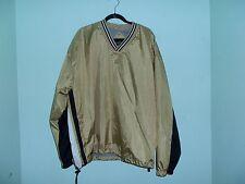 Vintage Holloway Light Gold Metallic Baseball Jacket*Size Xxl*